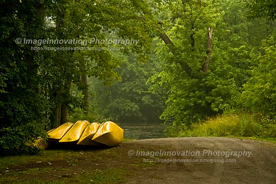 PETERBOROUGH, ONTARIO, CANADA Canoes in Beavermead Park [beavermead_0882]
