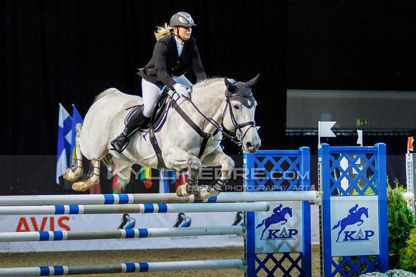 Linda ANSULE - LEMONS @ Tallinn International Horse Show 2014, 130-135 cm open class on Friday, presented by Tere Kššk. Foto: Kylli Tedre / www.kyllitedre.com