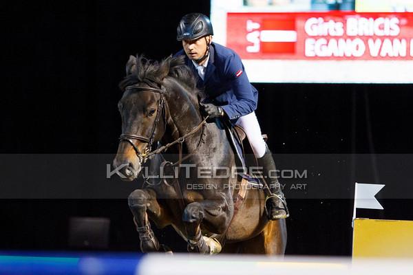 Girts BRICIS - EGANO VAN KADAL @ Tallinn International Horse Show 2014, 130-135 cm open class on Friday, presented by Tere Kššk. Foto: Kylli Tedre / www.kyllitedre.com