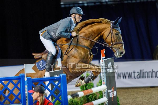 Kristaps NERETNIEKS - ROMANEE CECE @ Tallinn International Horse Show 2014, 130-135 cm open class on Friday, presented by Tere Kššk. Foto: Kylli Tedre / www.kyllitedre.com