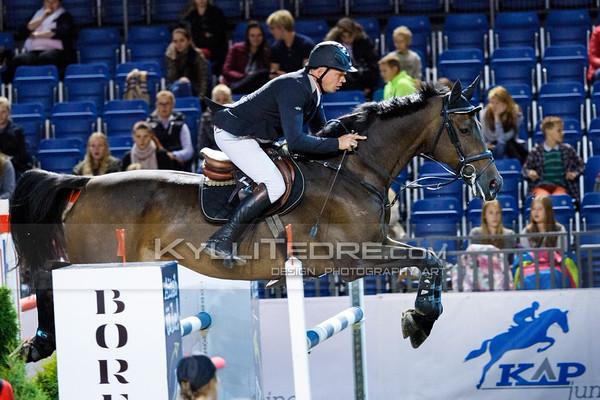 Andrius PETROVAS - ARAGORN @ Tallinn International Horse Show 2014, 130-135 cm open class on Friday, presented by Tere Kššk. Foto: Kylli Tedre / www.kyllitedre.com