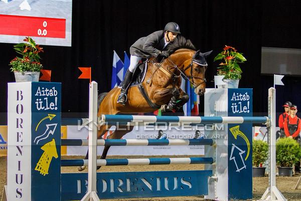 Dainis OZOLS - ALIBI @ Tallinn International Horse Show 2014, Friday 140 cm presented by Borenius. Foto: Kylli Tedre / www.kyllitedre.com
