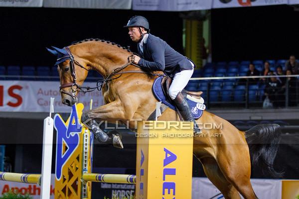 Andrius PETROVAS - DAVINO Q @ Tallinn International Horse Show 2014, Young horses on Friday, presented by Apotheka. Foto: Kylli Tedre / www.kyllitedre.com