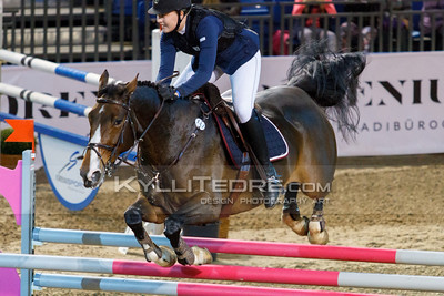 Roosa RAJAM€KI - WISH OF PALATINA @ Tallinn International Horse Show 2014, Saturday: Young Riders, 130 cm. Foto: Kylli Tedre / www.kyllitedre.com