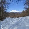 The snow-capped volcano above Karuizawa (Photo by guide Phil Gregory)