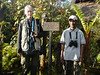 Phil Gregory and local guide Max at Kumul Lodge (Photo by participant Tony Brake)