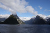 "Mitre Peak, Milford Sound <div id=""caption_tourlink"" align=""right""> [photo © guide Phil Gregory]</div>"