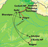 Our Northern India tour route