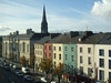 """Waterford streetscape from the window of Tower Hotel <div id=""""caption_tourlink"""" align=""""right"""">[photo © participant Anne Bergstrom]</div>"""