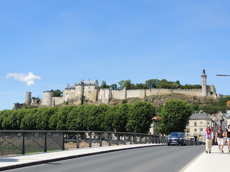 The restored Chateau de Chinon presides over the historic town of Chinon, where we'll stay for our first four nights. (Photo by Megan Edwards Crewe)