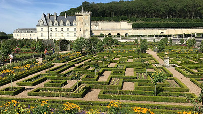 A view of the Villandry kitchen gardens. Photo by Megan Edwards Crewe.
