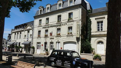 The Hotel Plantagenet in Chinon, our first base. Photo by Megan Edwards Crewe.