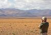 "Kurt birding the vast steppes on <em>Boulmalne du dades</em> along the Tagdilt Track. <div id=""caption_tourlink"" align=""right""> [Photo © George Armistead]</div>"
