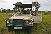 "Terry Stevenson and group in the safari vehicle<div id=""caption_tourlink"" align=""right""> [photo ©  participant Paul Thomas]</div>"