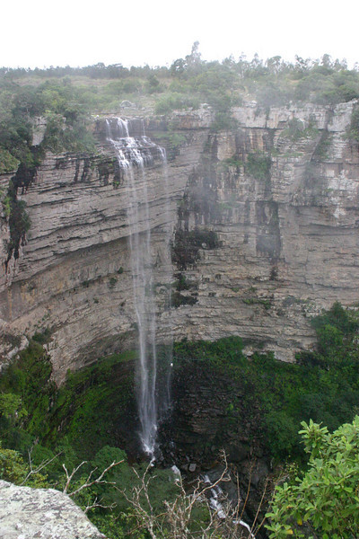"Waterfall near Oribi Gorge <div id=""caption_tourlink"" align=""right""> [photo © guide Phil Gregory]</div>"
