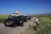 The Field Guides convoy in Queen Elizabeth National Park: all eyes across a vast landscape.(Photo by guide Phil Gregory)