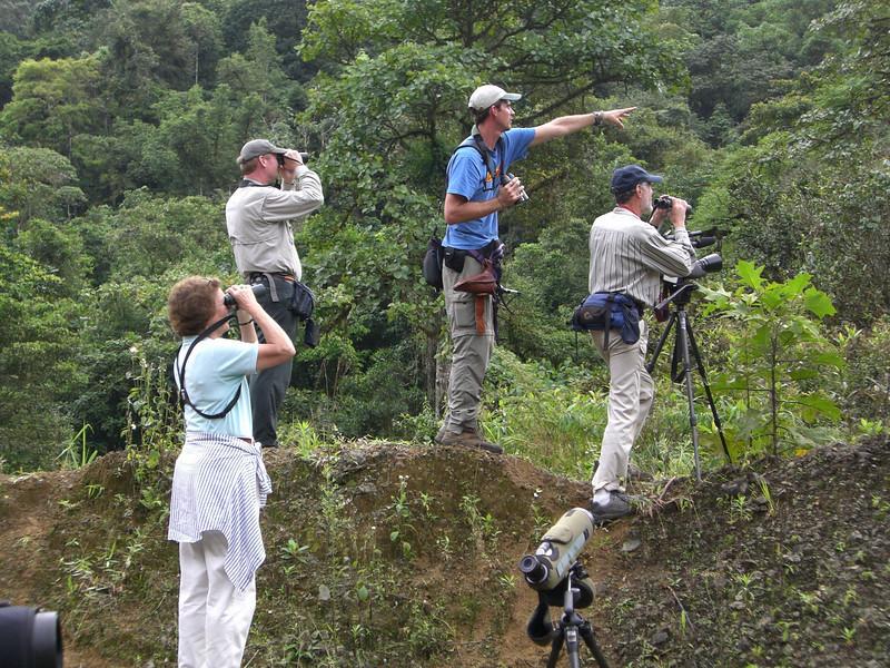 """Guides Dave Stejskal & Jesse Fagan with participants <br><div id=""""caption_tourlink"""" align=""""right""""> [photo © participant Susan Strange]</div>"""