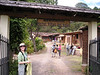"""From Tegucigalpa we head up into the cooler montane forest.  Here is Mary Rodel welcoming us to our cabans at Villas del Valle. <div id=""""caption_tourlink"""" align=""""right""""> [photo © participant Max Rodel]</div>"""