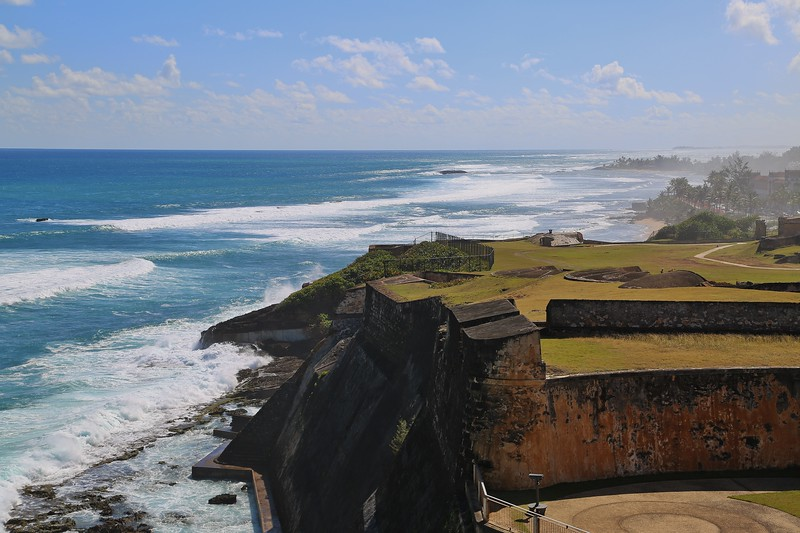 A lovely view along the north coast from the historic fort of Castillo San Cristobal guarding San Juan. (Photo by participant Larry Wright)