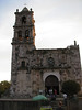 """The Copala church where sometimes a Bat Falcon can be seen hunting in the early evening.  <div id=""""caption_tourlink"""" align=""""right""""> [photo © participant Diane Henderson]</div>"""