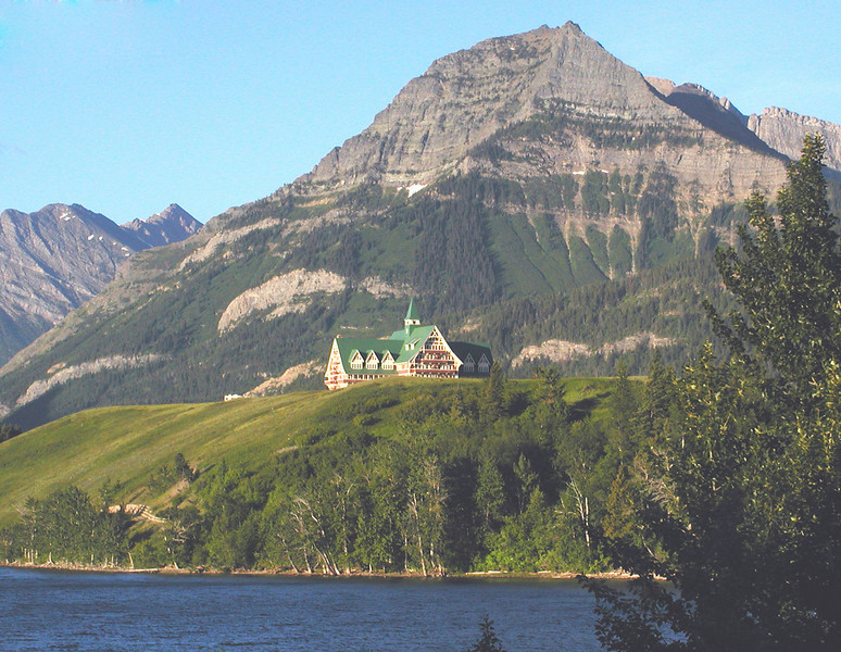 """This is a scene from Waterton Lakes National Park. We visit several different National Parks on this tour, this one being the farthest to the south. All are strikingly gorgeous, but all are different. <div id=""""caption_tourlink"""" align=""""right"""">[photo © guide Jay VanderGaast]</div>"""