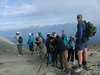 """Here our group is atop Whistlers Mountain in Jasper National Park. Before you think, no-no, mountain climbing is not for me, we should tell you that we arrive there by a quick tram ride, so there is little climbing involved. The quest up here above the tree line is the bird in our next image...<div id=""""caption_tourlink"""" align=""""right"""">[photo © participant Pat Newman]</div>"""