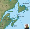"Have a look through a few photos from our 2008 Newfoundland & Nova Scotia tour guided by <b>Chris Benesh</b>.  The map above locates some of the main stops on our itinerary, which begins in St John's, Newfoundland, covering the southeastern portion of the island before moving to Argentia for the famed ferry crossing to North Sydney, where our explorations take us to Cape Breton and then down the east coast to the terminus of Halifax.  Enjoy!<div id=""caption_tourlink"" align=""right""></div>"
