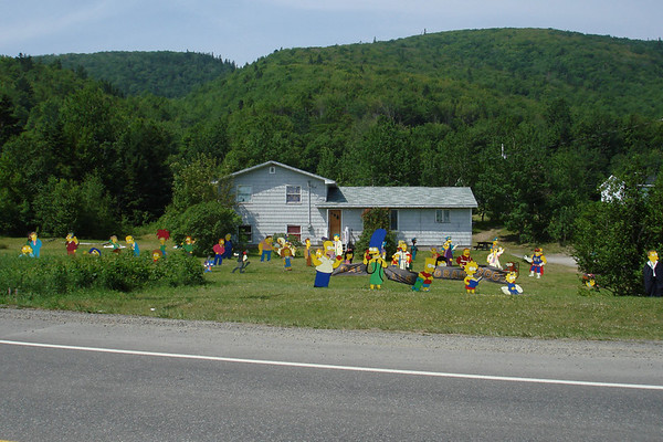 "It's not all just about birding in Newfoundland and Nova Scotia.  The locals make a big deal about lawn ornamentation. This house near Whycocomagh, Cape Breton seems to have a thing for the Simpsons. <div id=""caption_tourlink"" align=""right""><br>[photo © Chris Benesh]</div>"