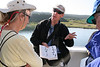 "Guide Chris Benesh explaining the finer points of seabird ID<div id=""caption_tourlink"" align=""right""> [photo © participant Charles Oldham]</div>"