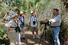 "Guide John Rowlett with group at Sabal Palm Sanctuary <div id=""caption_tourlink"" align=""right"">[photo © participant Judie von Eiff]</div>"