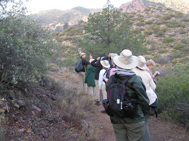 "Birding in the basin <div id=""caption_tourlink"" align=""right""> [photo © participants Bill & Nancy Denton]</div>"