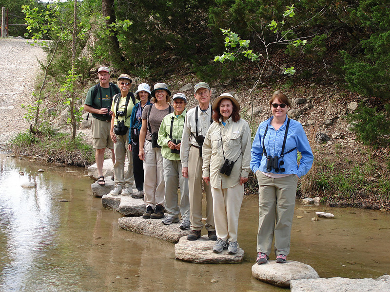 "Our 2008 group having some fun. Having a good time is a basic necessity of our touring experience of course! <div id=""caption_tourlink"" align=""right""> [photo © guide John Rowlett]</div>"