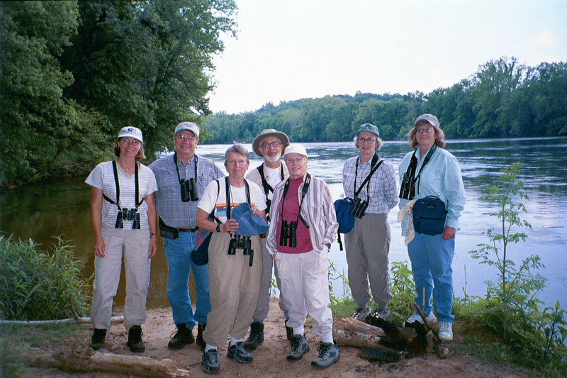 "A happy group from one of our past tours, with guide John Rowlett second from left <div id=""caption_tourlink"" align=""right"">[photo © participant Betsy Sanstrom]</div>"