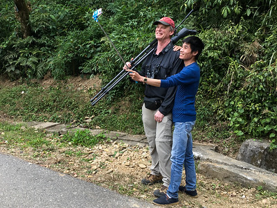 Selfie, please: It's impossible for guide Dave Stejskal to travel anywhere incognito, even Vietnam! Guide Doug Gochfeld had to capture the moment.