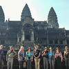 """""""Where we'd like to be"""" #5: In front of the north gate of incomparable Angkor Wat in Cambodia. Photo by guide Doug Gochfeld."""