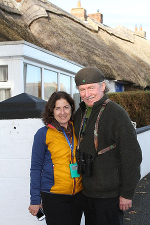 Co-guiding our recent Ireland tour: at right, the Raven (Terry McEneaney) with his peerless flock leader, the Social Flycatcher (Karen McEneaney). Thanks to participant Mary Lou Barritt for this pic!
