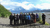 Our recent Chile group bundled up in a beautiful landscape...somebody's gotta do it! Photo by guide Willy Perez.