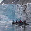 We made outings from the big ship in Zodiacs, which allowed up close approach to and tremendous views of glaciers. (Photo by participant Peggy Keller)
