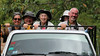 It's all smiles for Jesse's gang getting a little fresh air in the transport at Mount Totumas. All part of the birding adventure! Photo by participant Mary Lou Barritt.