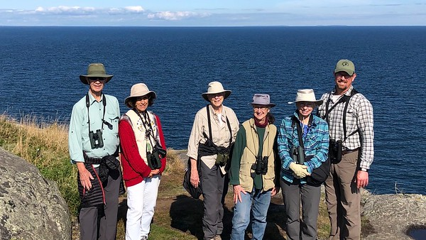 A short hike to White Head on Monhegan Island (that's Matinicus in the distance) made a nice occasion for a group photo. Eric looks forward to seeing everyone again soon!