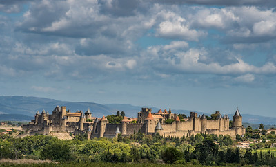 Halfway along the route between the Pyrenees and the great wetlands of the Camargue, the walled city of Carcassonne demands at least a whistle stop for photos, which the guides often combine with a picnic and some birding. (Photo by participant Judie Dunn.)