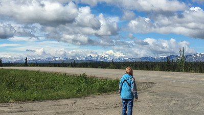 It's just a tad awe-inspiring when the skies clear on Denali. Here we are viewing from the Denali Highway, tens of miles away. Photo by guide Doug Gochfeld.