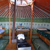 You've heard of yurts, and along our route we got to stay in several of the traditional ger (yurt) camps in relative comfort. Photo by guide Phil Gregory.