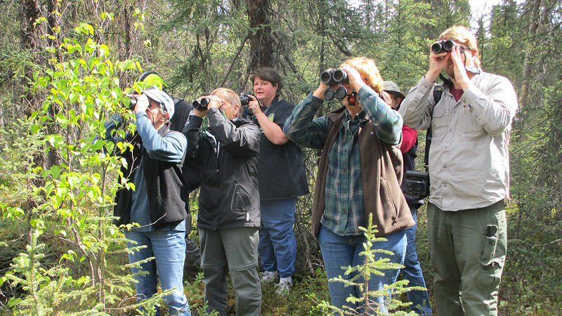 It's always fun to pass a milestone on tour. Alaska participant Sandy Smith views #600, and the rest of us join in! Photo by participant Steve Rannels.