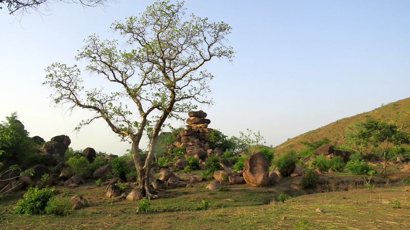The rock formations at Tongo Hills, in northernmost Ghana, photographed by guide Phil Gregory.