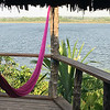 After-lunch temptation at Lamanai: chill out in a hammock and watch birds on the lagoon. Photo by participant Tracey Bauder.