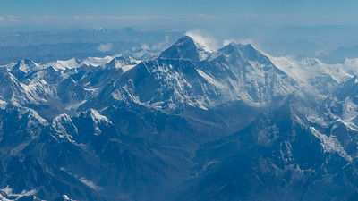We were fortunate to have clear weather en route -- and Everest was in its full glory from the plane. Photo by guide Richard Webster.