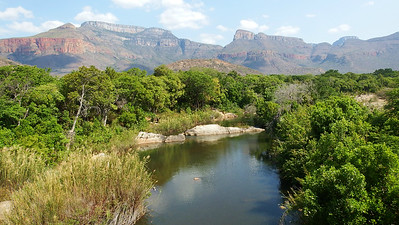 The scenic Drakensberg Escarpment is home to Lammergeier and the endemic Ground Woodpecker, Bush Blackcap, and Drakensberg Rockjumper. Photo by participant Sally Marrone.