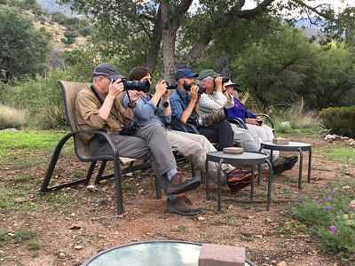"Looks like guides John Coons and Cory Gregory and part of their group are having another rough day at the ""office"" in Ash Canyon! Photo by participant Jeannette Shores."