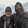 Here are our two tour leaders, Chris Benesh and Jesse Fagan, on the boat with the Aialik Glacier in the background.